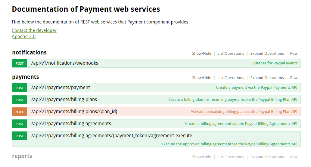 Screenshot of the Payment Solution developed by SILO